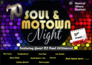 SEVENTIES SOUL & MOTOWN DISCO WITH PAUL LITTLEWOOD